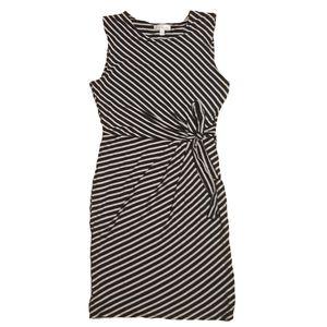 Nine britton striped side tie sleeveless dress